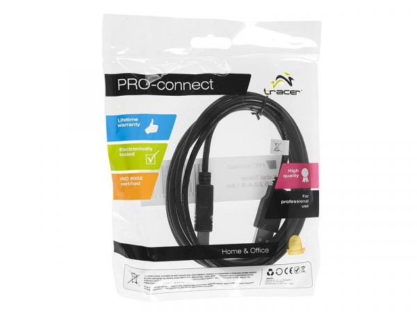 TRACER TRAKBK41332 Cablu Imprimanta TRACER USB 2.0 A-B 1,8m 1