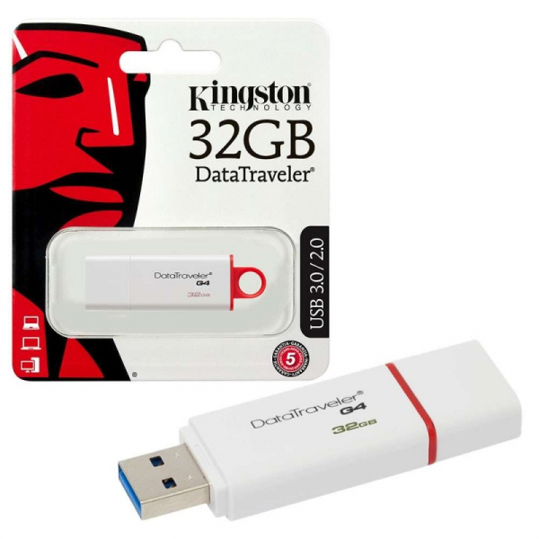 Memorie USB Kingston DataTraveler DTIG4, 32GB, USB 3.0, Alb/Rosu 0