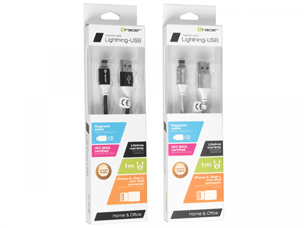 Cablu magnetic TRACER USB 2.0 Iphone AM - Lightning 1.0m 1