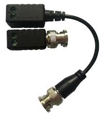 Video balun pasiv cu cablu Hikvision, DS-1H18S/E; transmite semnal video HDTV pe cablu UTP pana la 200m; pret per pereche; TVI convert to UTP transmission with extend cable, passive. 0