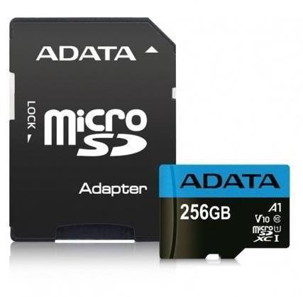 Micro Secure Digital Card ADATA, Premier, 256GB, UHS-I Clasa 10/V10, 0