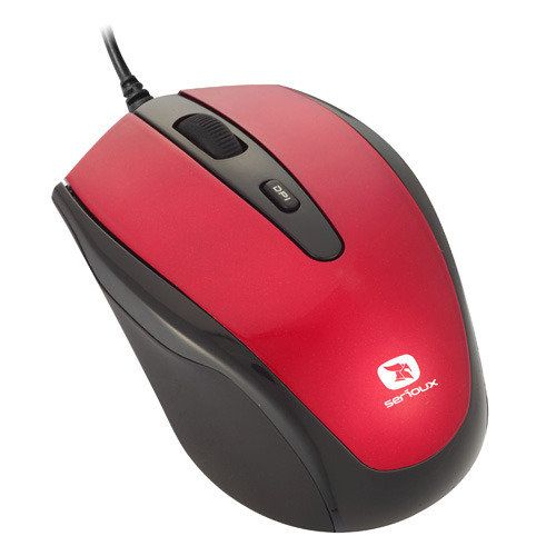 Mouse optic Serioux Pastel 3300, USB, Rosu 0