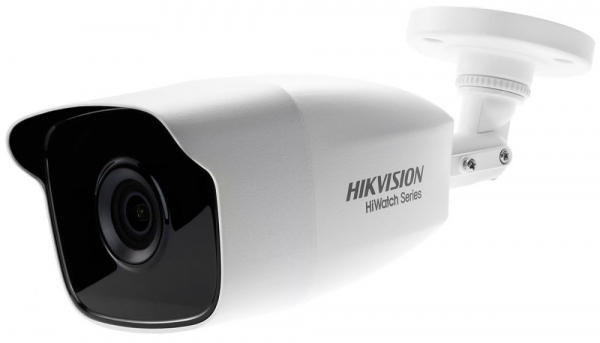 Camera de supraveghere Hikvision HiWatch Turbo HD Bullet, 2MP, 2.8mm Lens, 40m IR, Outdoor EXIR Bullet, IP66, carcasa metal, Alb 0