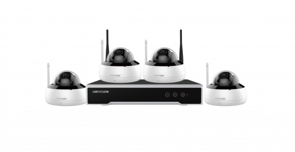 KIT 4CAMERE DOME+1NVR+1HDD WIFI 4MP 0