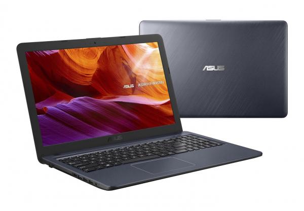 Laptop ASUS X543MA-GO929, 15.6 HD (1366X768), Glare (lucios), Intel Celeron Dual Core N4000 (1.1GHz, up to 2.6GHz, 4MB), video integrat Intel HD Graphics 600, RAM 4GB DDR4 2400MHz (onboard) fara optiu 4