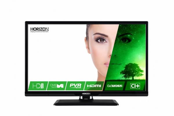 """LED TV 24"""" HORIZON HD 24HL7120H /Black 0"""
