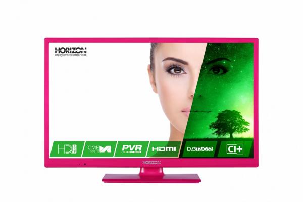 "LED TV 24"" HORIZON HD 24HL7122H /Pink 0"