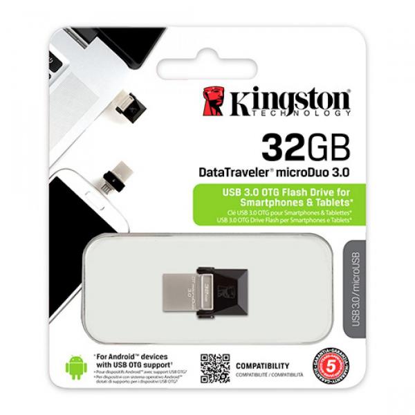 Memorie USB Kingston DataTraveler MicroDuo, 32GB, USB 3.0, OTG 1