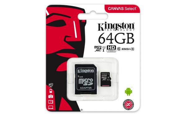 MICROSDXC 64GB CL10 UHS-I SDCS/64GB W/A 0