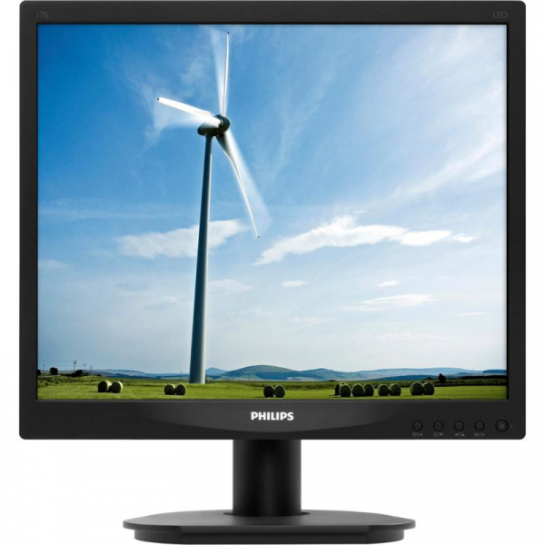 "Monitor 17"" PHILIPS 17S4LSB, 1280*1024, 5:4, WLED, 5 ms, 250 cd/m2, 170/160, 20M:1/ 1000:1, anti glare, D-SUB, DVI, VESA, Kensington lock, Black 1"