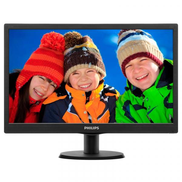 "Monitor 19.5"" PHILIPS 203V5LSB26, 1600*900, TN, 16:9, WLED, 5 ms, 200 cd/m2, 90/50, 600:1, D-SUB, VESA, Kensington lock, Black 0"