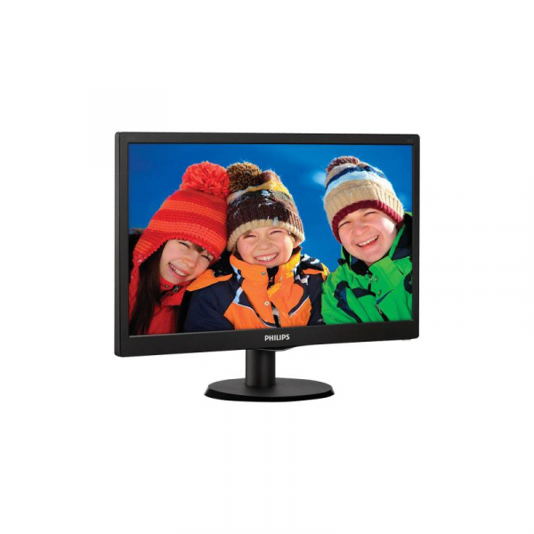 "Monitor 19.5"" PHILIPS 203V5LSB26, 1600*900, TN, 16:9, WLED, 5 ms, 200 cd/m2, 90/50, 600:1, D-SUB, VESA, Kensington lock, Black 1"