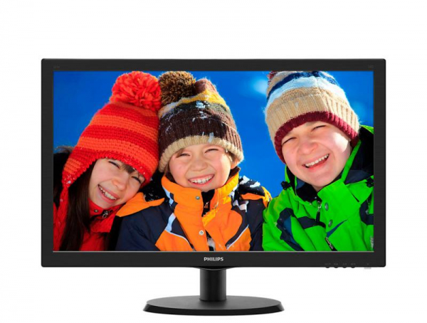 "Monitor 21.5"" PHILIPS 223V5LSB2, FHD, TN, 16:9, WLED, 5 ms, 200 cd/m2, 90/65, 10M:1, D-SUB, Kensington lock, VESA, Black 0"