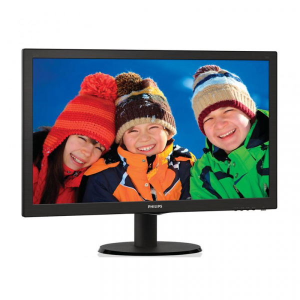 "Monitor 21.5"" PHILIPS 223V5LSB2, FHD, TN, 16:9, WLED, 5 ms, 200 cd/m2, 90/65, 10M:1, D-SUB, Kensington lock, VESA, Black 1"