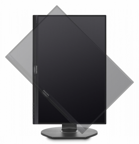 "Monitor 24.1"" PHILIPS 240B7QPJEB, WUXGA, IPS, 16:10, 1920*1200, 60hz, WLED, 5ms GTG, 300 cd/m2, 178/178, 20M:1/ 1000:1, FlickerFree, HDMI, VGA, USB, DP, VESA, Speakers, pivot, Black    2"