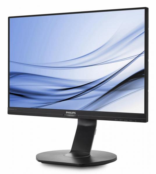 "Monitor 24.1"" PHILIPS 240B7QPJEB, WUXGA, IPS, 16:10, 1920*1200, 60hz, WLED, 5ms GTG, 300 cd/m2, 178/178, 20M:1/ 1000:1, FlickerFree, HDMI, VGA, USB, DP, VESA, Speakers, pivot, Black    3"