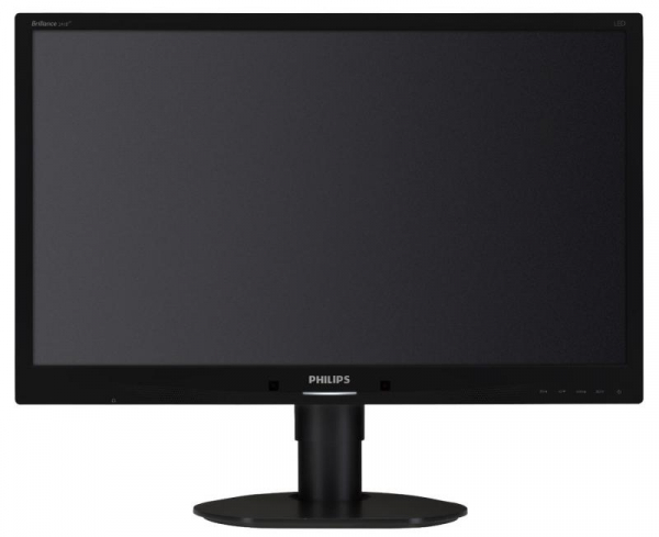 "Monitor 24"" PHILIPS 241B4LPYCB, FHD, TN, 16:9, WLED, 5 ms, 250 cd/m2, 170/160, 20M:1/ 1000:1, D-SUB, USB, DVI, DP, VESA, Speakers, pivot, Black 2"