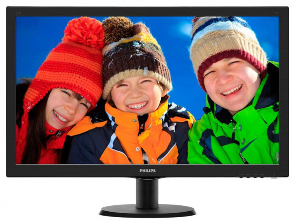 "Monitor 27"" PHILIPS 273V5LHAB, FHD, TN, 16:9, WLED, 1 ms, 300 cd/m2, 170/160, 10M:1/ 1000:1, HDMI, D-SUB,  DVI, VESA, speakers, Kensington lock, Black 0"