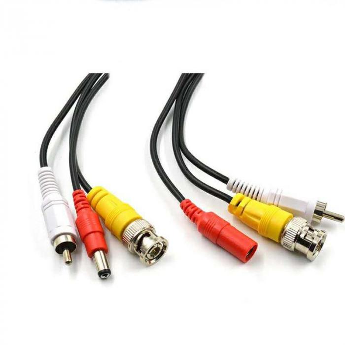 Cablu video cu alimentare si  audio 30 metri LN-EC04-30M-AUDIO 1