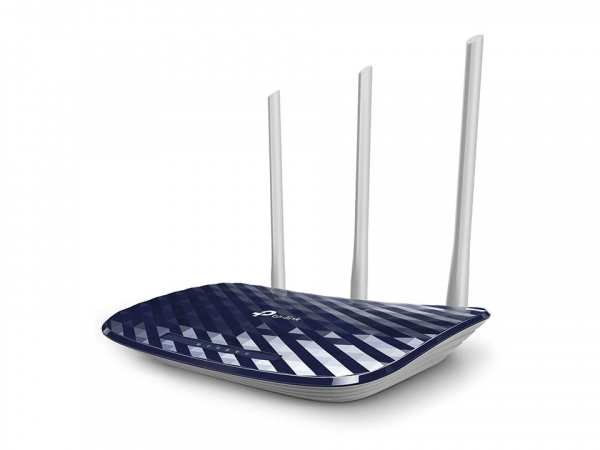 Router Wireless TP-Link ARCHER C20, 1xWAN 10/100, 4xLAN 10/100, 3 anteneexterne, dual-band AC750 (433/300Mbps), Buton WirelessON/OFF,buton WPS 0