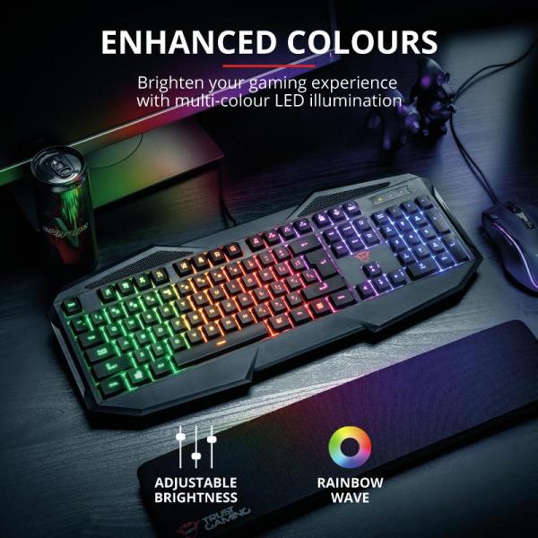 Tastatura Trust GXT 830-RW Avonn Gaming Keyboard 0