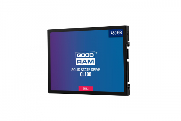 "SSD Goodram, CL100, 480GB, 2.5"", SATA III (6 GB/s), R/W speed: up to 550MB/s/450MB/s 0"