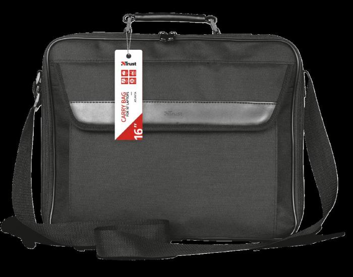 "Geanta Trust Atlanta Carry Bag 16"" laptop black 3"