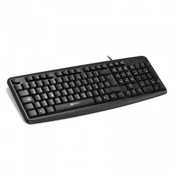 Tastatura Serioux 9400USB, cu fir, US layout, neagra, 104 taste, USB 0