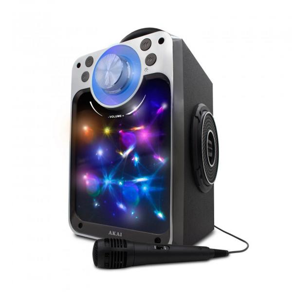 Boxa portabila AKAI, Bluetooth cu USB/SD/AUX si radio FM, 6W, Negru, CEU7300-BT 0