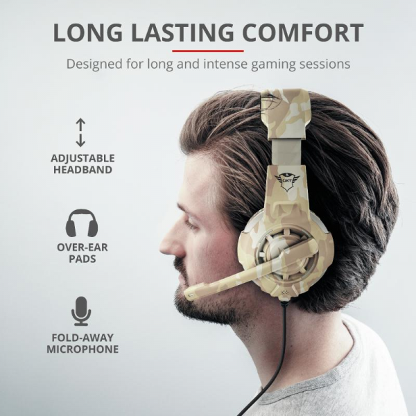 Casti cu microfon Trust GXT 310D Radius Gaming Headset - desert camo 4