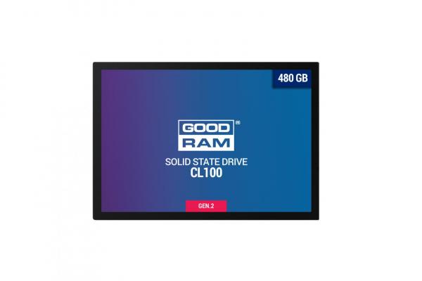 "SSD Goodram, CL100, 480GB, 2.5"", SATA III (6 GB/s), R/W speed: up to 550MB/s/450MB/s 1"