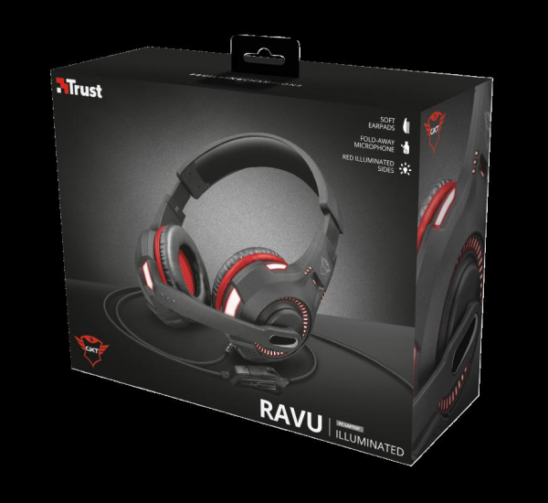 Casti cu microfon Trust GXT 407 Ravu Illuminated Gaming Headset 0