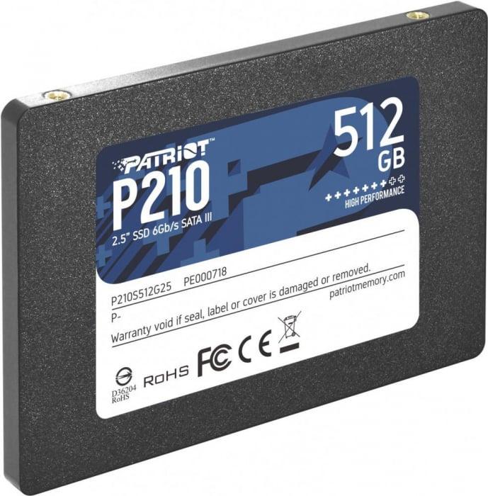 "SSD Patriot Spark, 512GB, 2.5"", SATA3, rata transfer r/w: 520/430 mb/s 0"