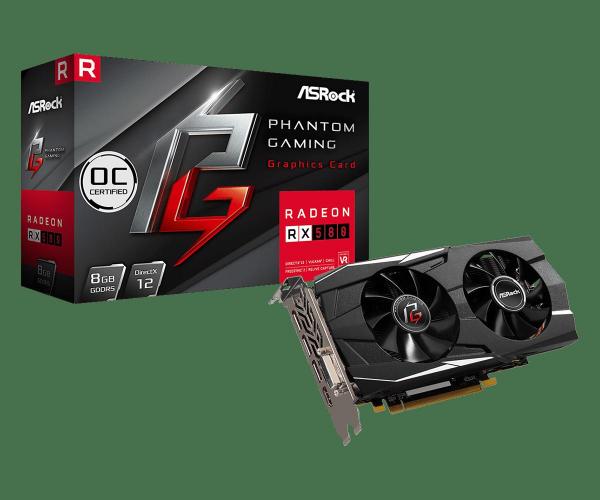 Placa video AsRock Radeon RX580 8G OC PG D 0