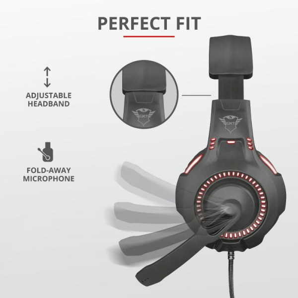 Casti cu microfon Trust GXT 407 Ravu Illuminated Gaming Headset 1