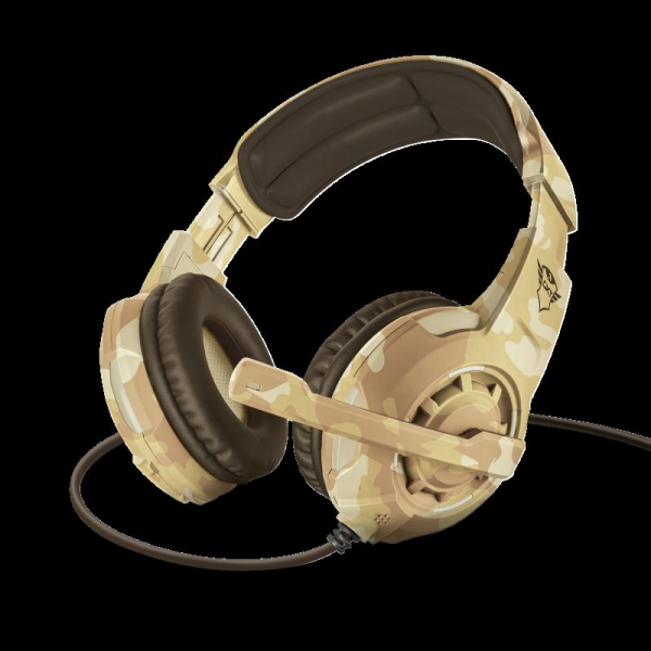 Casti cu microfon Trust GXT 310D Radius Gaming Headset - desert camo 0