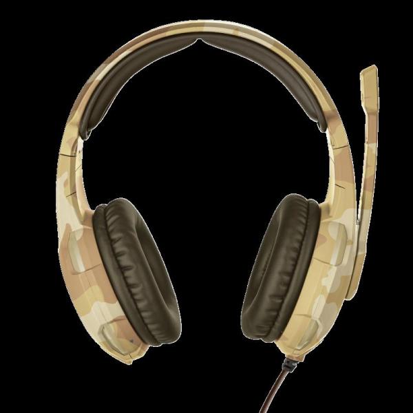 Casti cu microfon Trust GXT 310D Radius Gaming Headset - desert camo 1