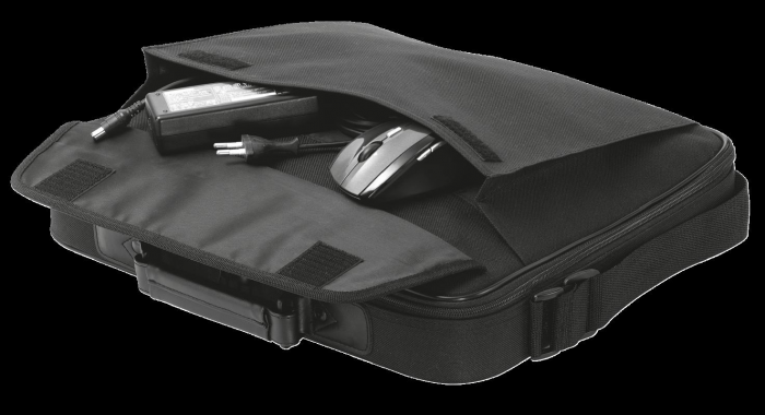 "Geanta Trust Atlanta Carry Bag 16"" laptop black 2"
