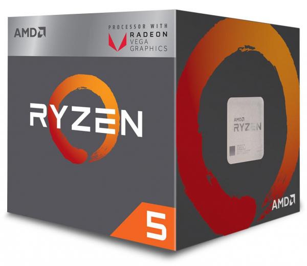 Procesor AMD Ryzen 5 2600, YD2600BBAFBOX, 6 nuclee, 3.9GHz, 19MB, AM4 ,65W, Wraith Stealth cooler [0]