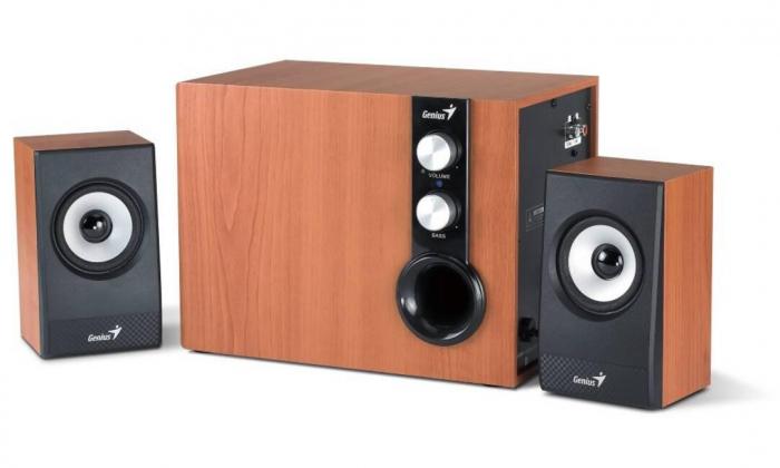"BOXE GENIUS 2.1, RMS: 32W (2 x 9W + 1 x 18W), cherry wood, ""SW-HF2.1 1205 II"" ""31730012400"" [0]"