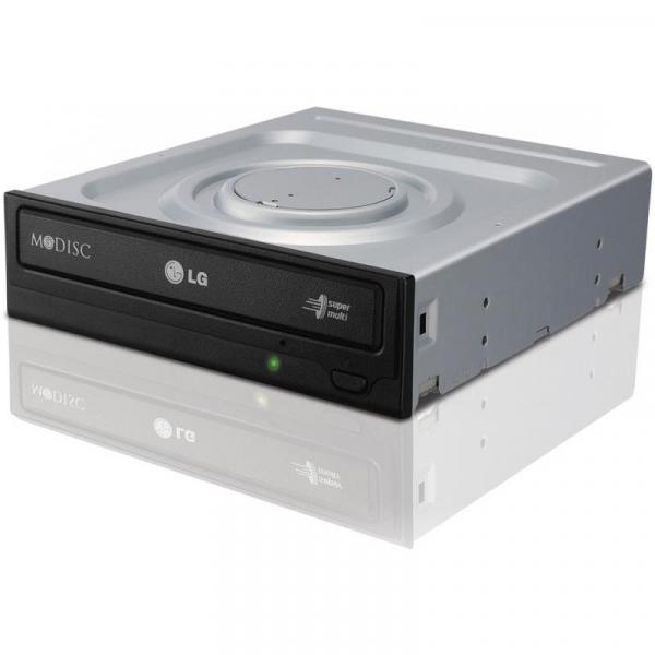 DVDRW LG 24X SATA BULK BLACK GH24NSD5, Max Speed: DVD 24x DVD+/-R Write 8x DVD+/-R DL Write 5x DVD-RAM Write, CD 48x CD-R Write, Host interface: SATA (Serial ATA), dimensions (WxHxD): 146 mm x 41.3 mm 1