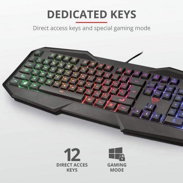 Tastatura Trust GXT 830-RW Avonn Gaming Keyboard 3