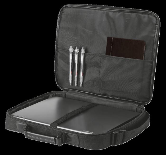 "Geanta Trust Atlanta Carry Bag 16"" laptop black 4"
