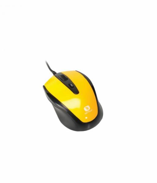 Mouse Serioux cu fir, optic, Pastel 3300, 1000dpi, galben, ambidextru, blister, USB 1