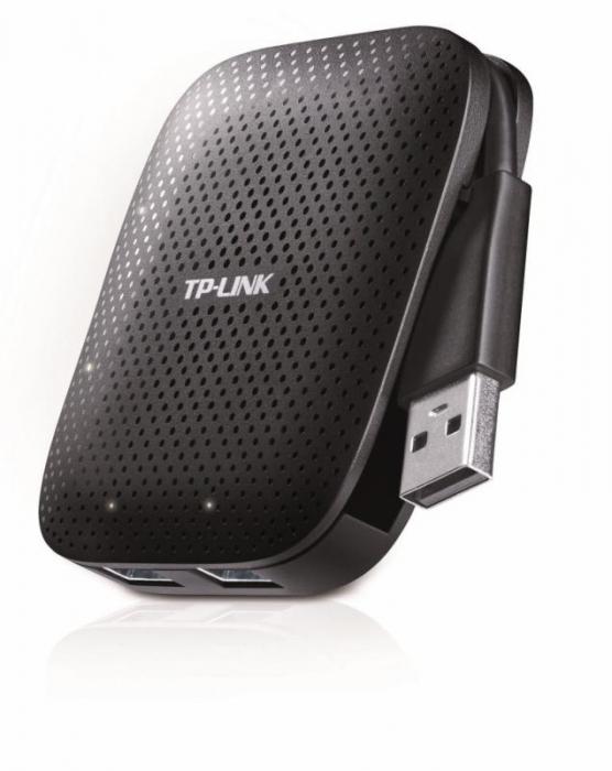 Hub USB TP-Link, UH400, 4 porturi, USB 3.0, negru 0
