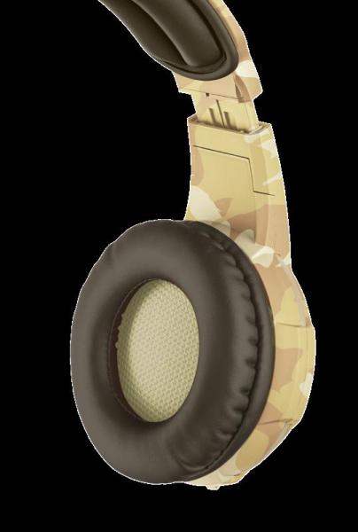 Casti cu microfon Trust GXT 310D Radius Gaming Headset - desert camo 8