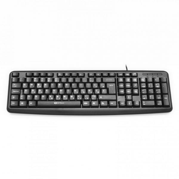 Tastatura Serioux 9400USB, cu fir, US layout, neagra, 104 taste, USB 2