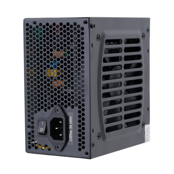 Sursa ATX Serioux 550W, Solas White, Eficienta >80%, Certificare 80+ White, Ventilator 12cm cu control termic, PFC Activ, Protectii: OCP/OVP/UVP/SCP/OPP, cabluri mansetate, 20+4 Pin (500mm), 2xHDD (40 3