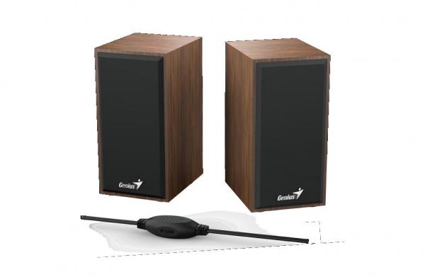 Boxe GENIUS SP-HF180 2.0 6W USB Wood 1