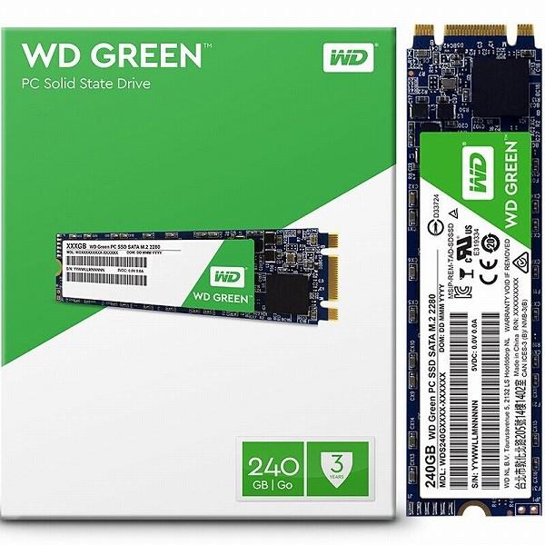 Solid-State Drive (SSD) WESTERN DIGITAL Green, 240GB, SATA3, M.2, WDS240G2G0B 0
